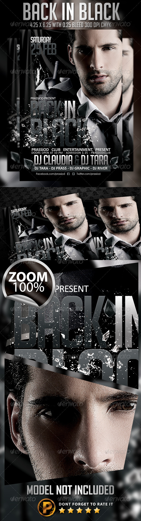 GraphicRiver Back In Black Flyer Template 6674892