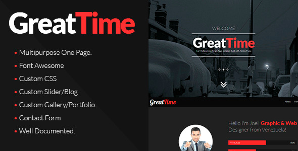 GreatTime Multipurpose One Page
