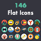 146 Modern Flat Icons - GraphicRiver Item for Sale