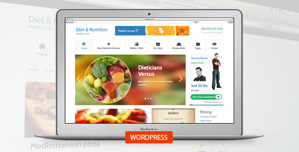Diet & Nutrition Health Center-Wordpress Theme - Health & Beauty Retail
