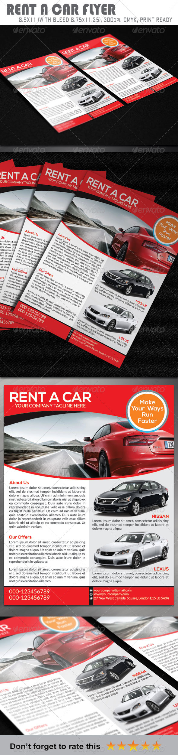GraphicRiver Rent A Car Flyer 6675675