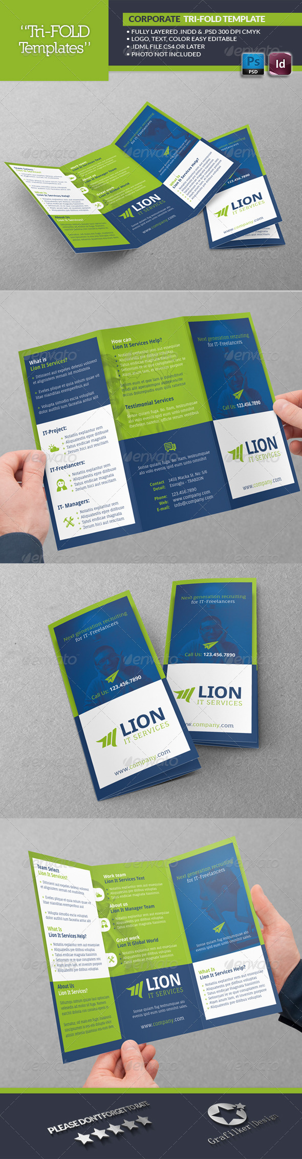 GraphicRiver IT Services Tri-Fold Template 6675720