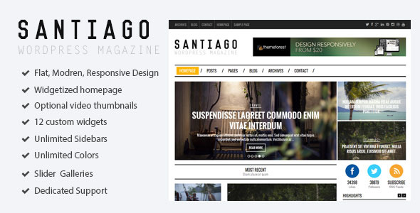 Santiago - Responsive WordPress Magazine Theme