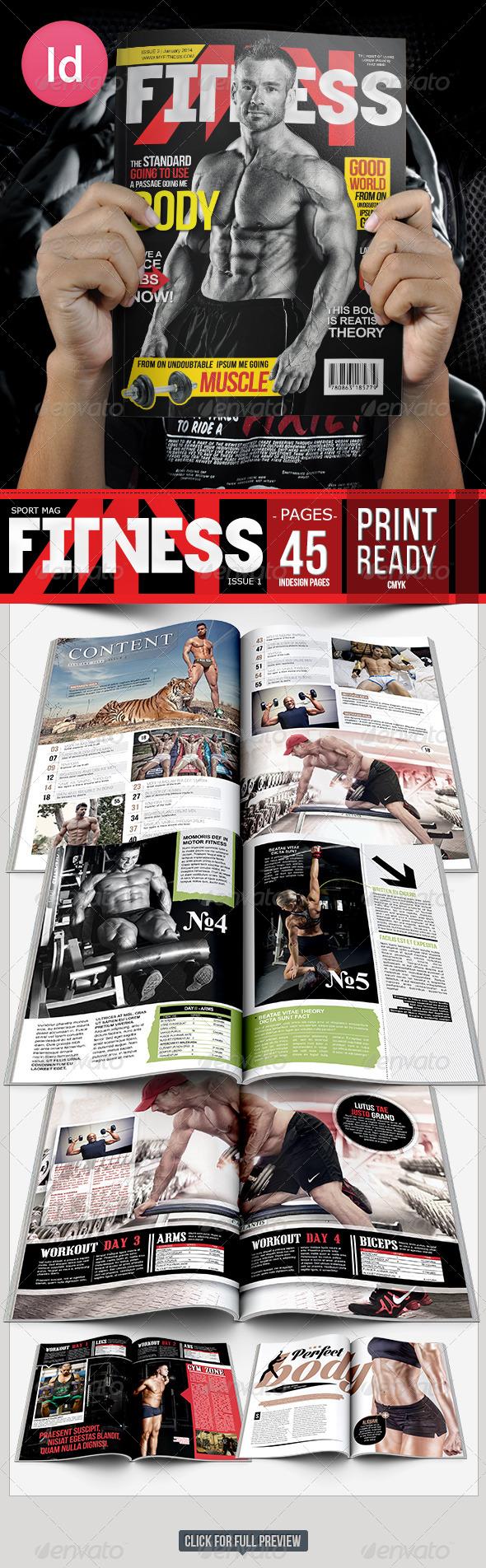 GraphicRiver Fitness Body Magazine Issue 2 6674177
