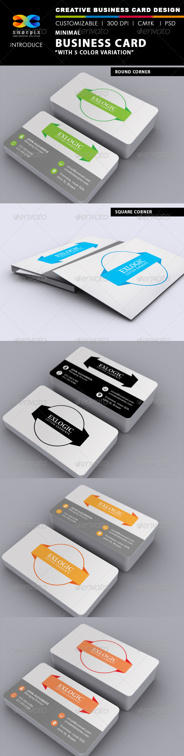 GraphicRiver Minimal Business Card 6675967