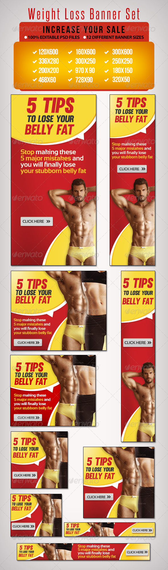 GraphicRiver Weight Loss Banner Set 7 6665542
