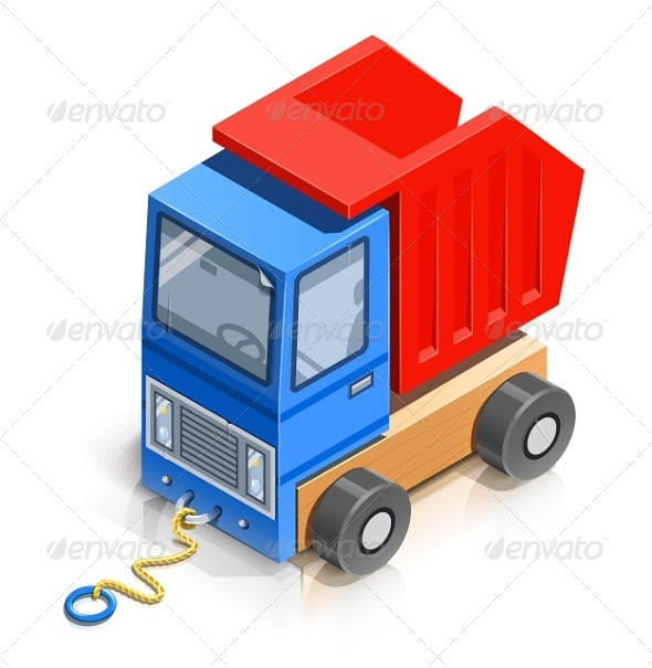 GraphicRiver Truck Wooden Toy 6676007