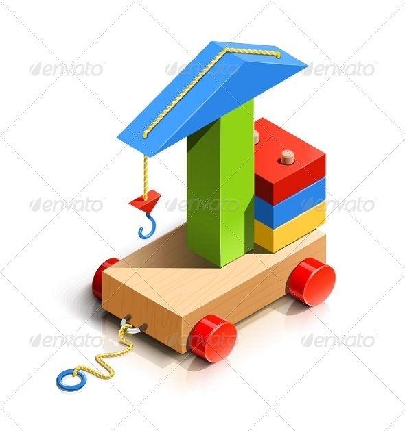 GraphicRiver Lifting Crane Wooden Toy 6676009