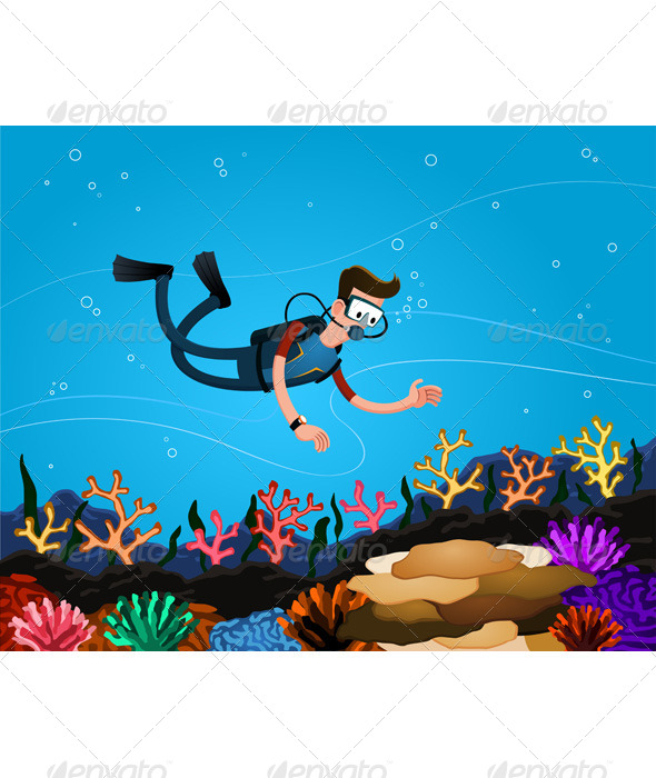 GraphicRiver Enjoying Coral Reef 6676074