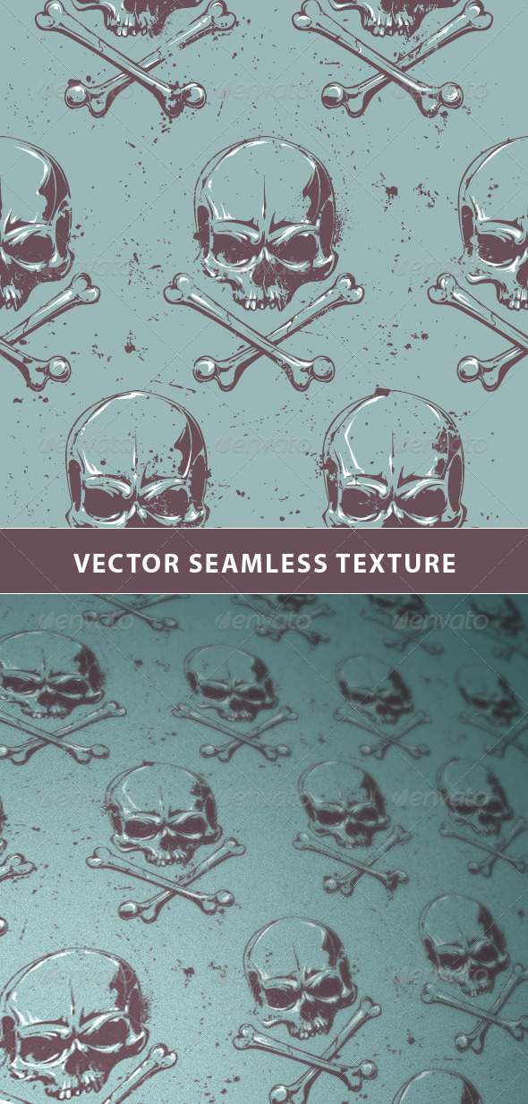 GraphicRiver Seamless Pattern with Grunge Skulls 6676077
