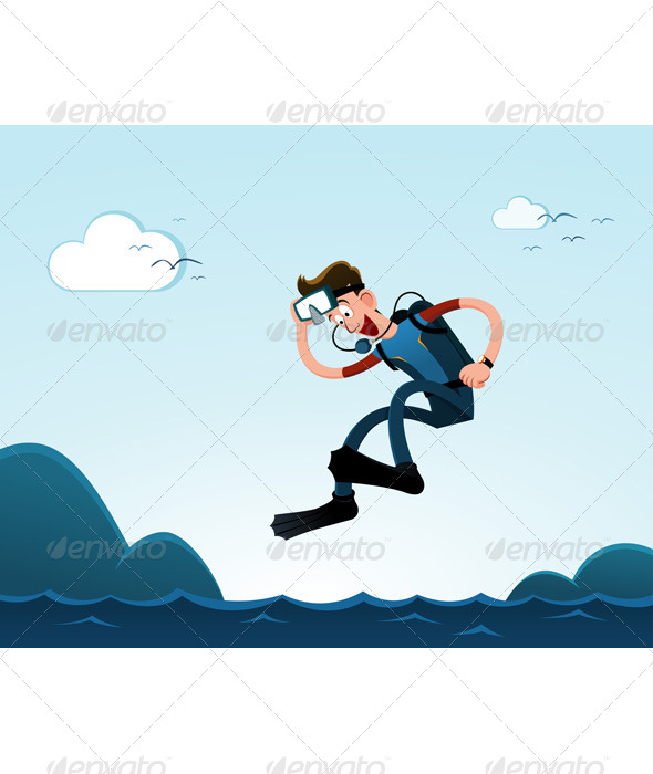 GraphicRiver Jumping to the Sea 6676085