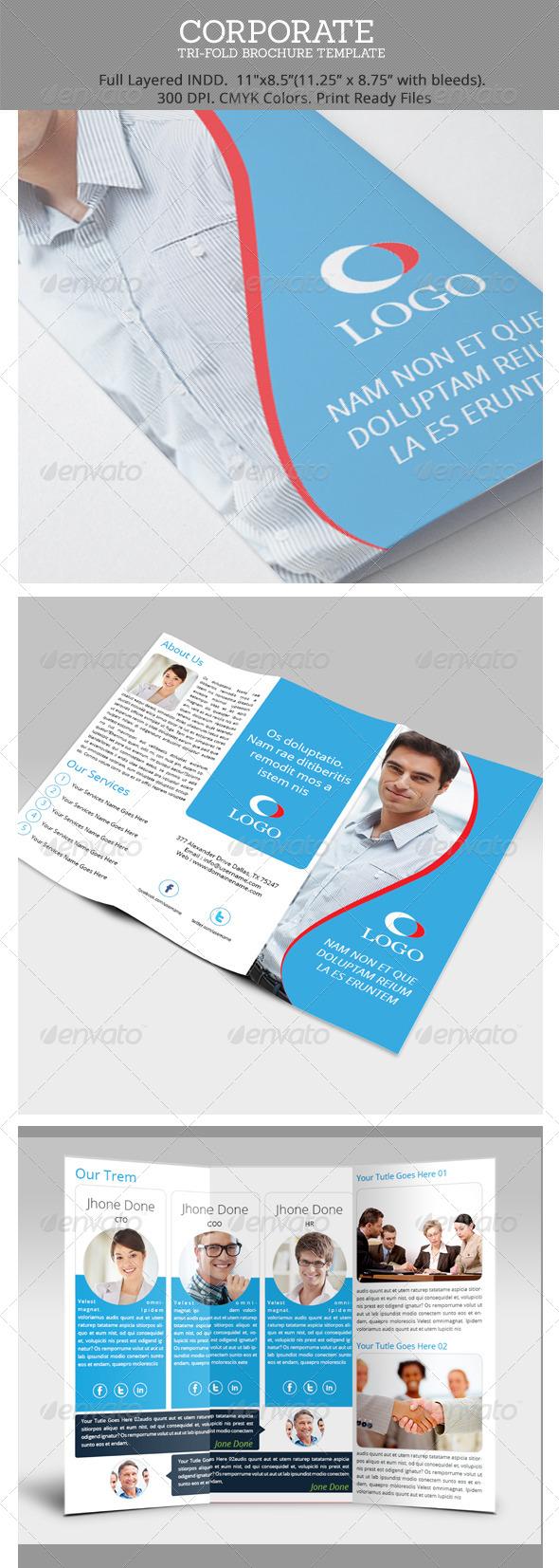 GraphicRiver Corporate Tri-Fold Brochure Template 6676121