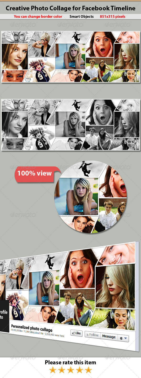 Creative Photo Collage for Facebook Timeline