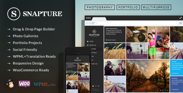 ThemeForest Snapture Photography & Corporate Wordpress Theme 6676233