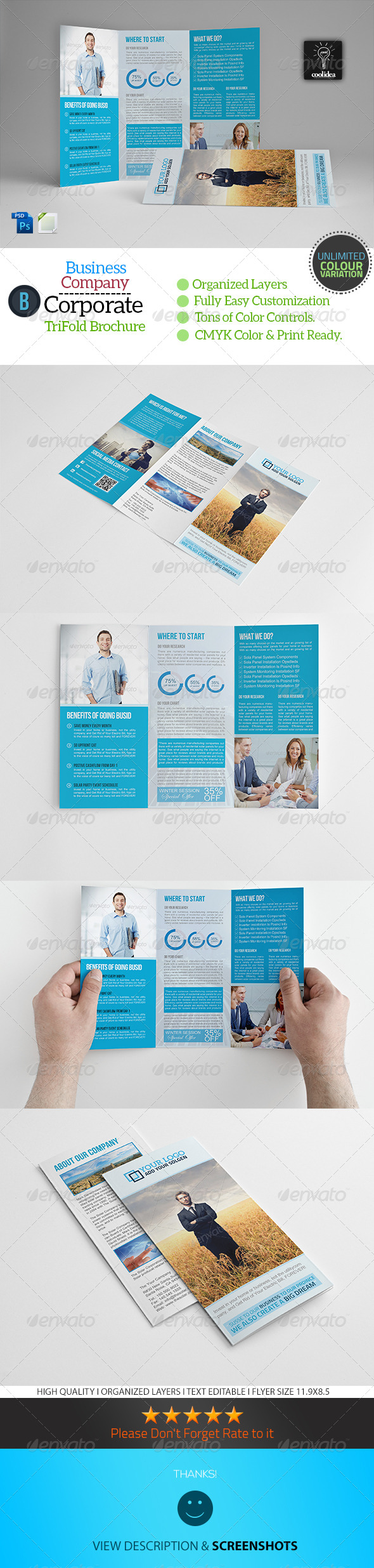 GraphicRiver A4 Trifold Business Brochure Template 6676328