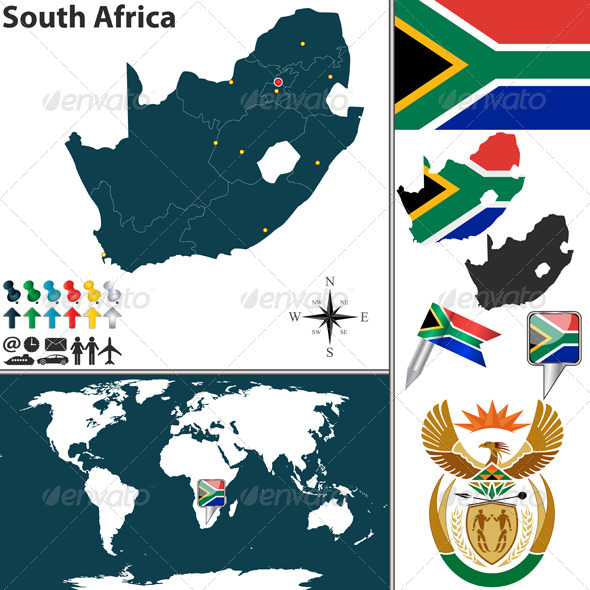 GraphicRiver Map of South Africa 6676335