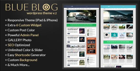 Blue Blog – Responsive Wordpress Blog Theme