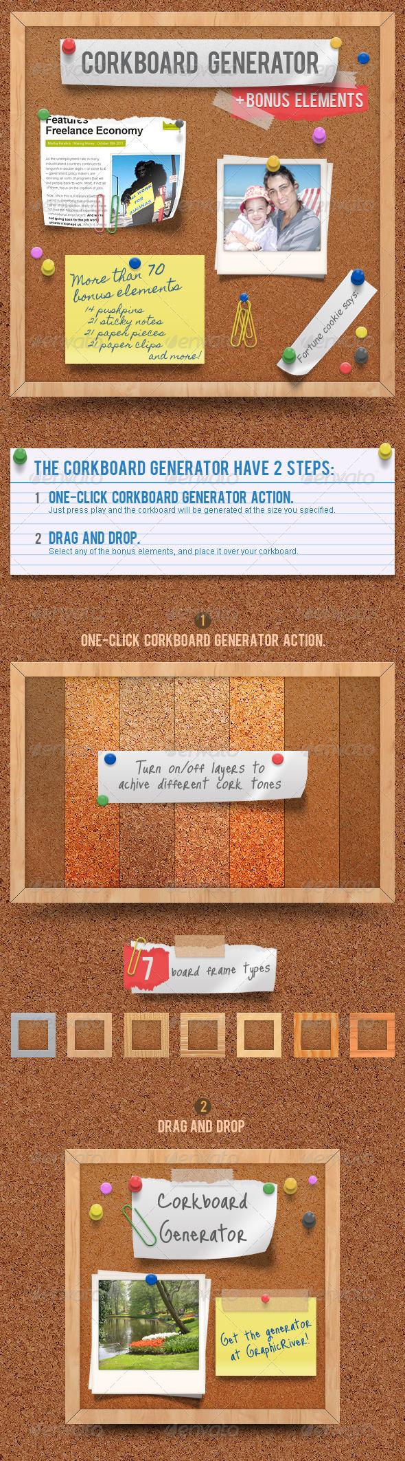 GraphicRiver Corkboard Notice Board Generator Action 699356
