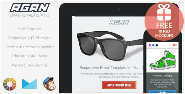 Agan - Responsive Email Marketing Template