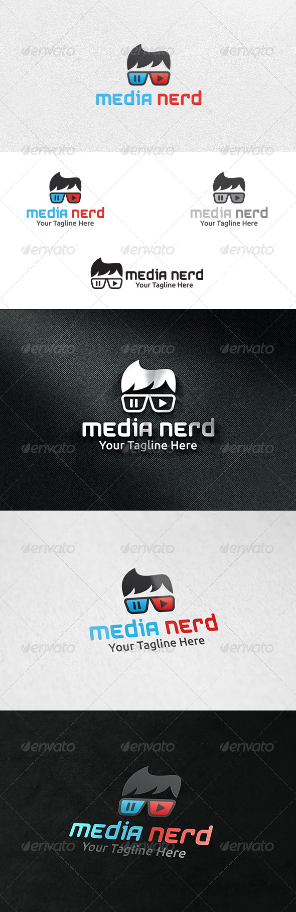 GraphicRiver Media Nerd Logo Template 6676863