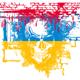Human Skull with Ukrainian Flag
