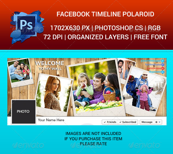 GraphicRiver Facebook Timeline Cover Polaroid 6676949