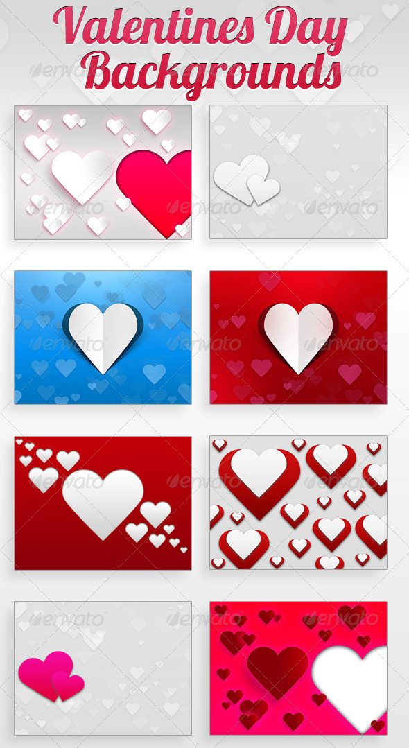 GraphicRiver Valentines Day Backgrounds 6673100
