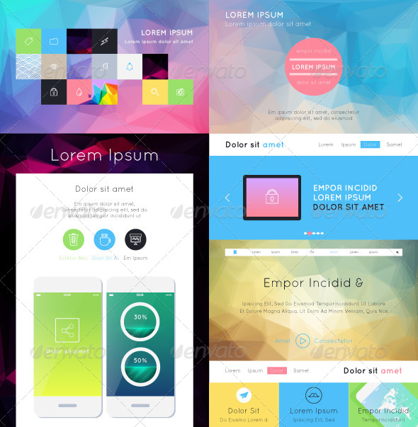 GraphicRiver UI Flat Design 6677084
