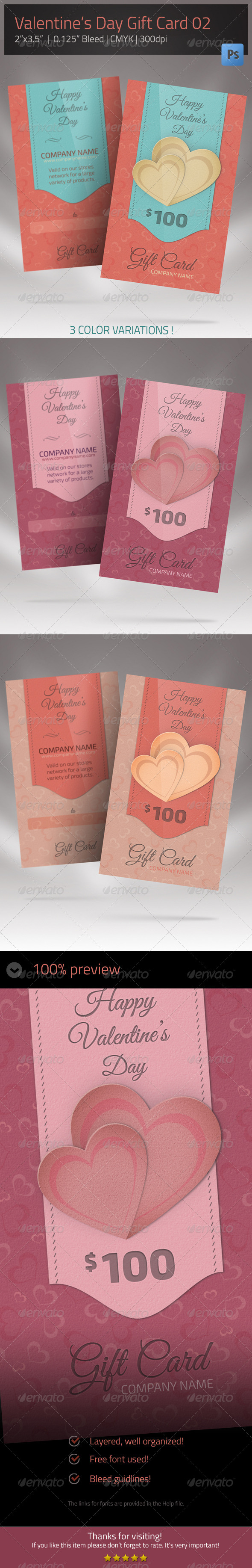 GraphicRiver Gift Card for Valentines Day 02 6674189