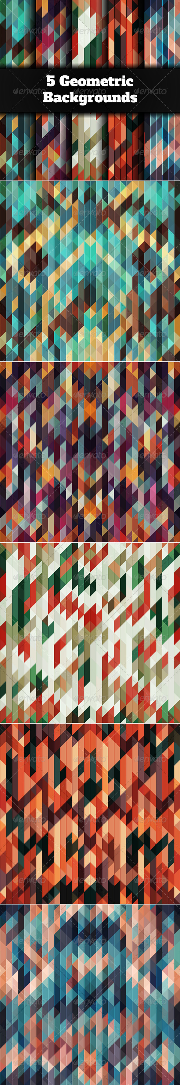 GraphicRiver 5 Abstract Geometric Background 6677641