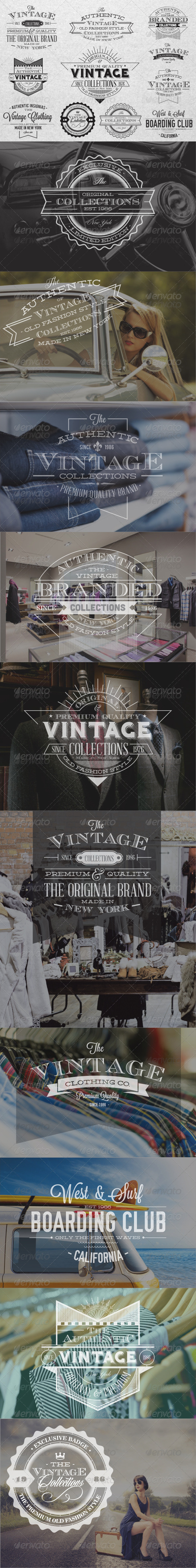 GraphicRiver Premium Vintage Labels 6677647