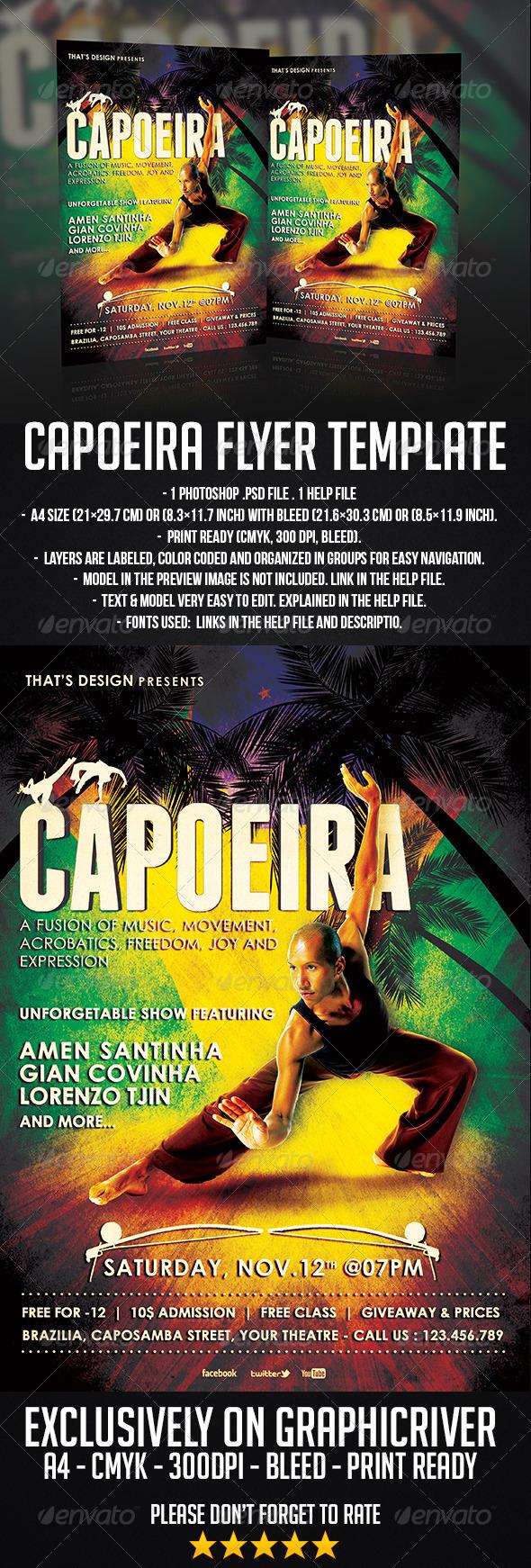 GraphicRiver Capoeira Flyer Template 6677681