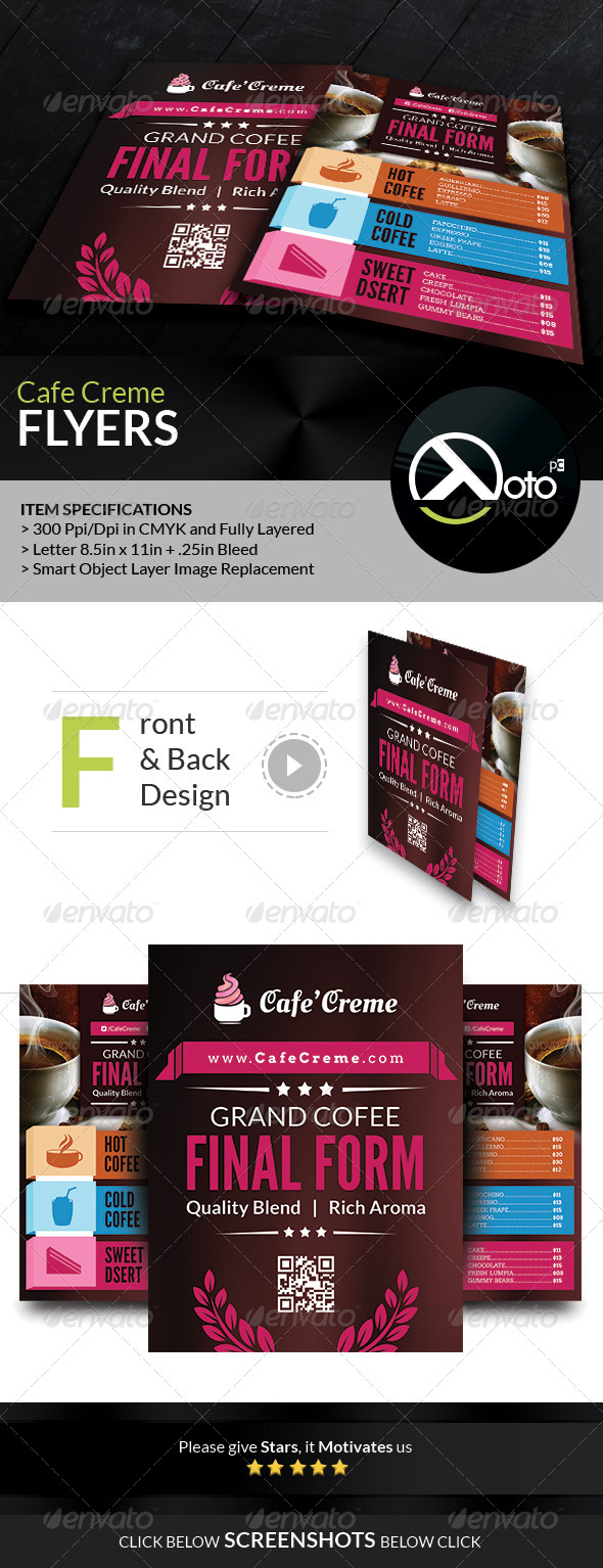 GraphicRiver Cafe Creme Coffee Store Flyers 6677690