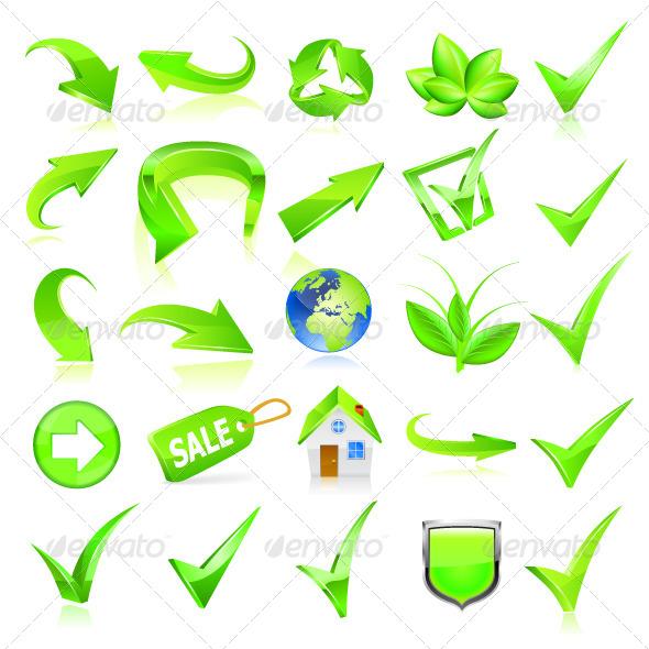 GraphicRiver Green Web Elements Set 6677987