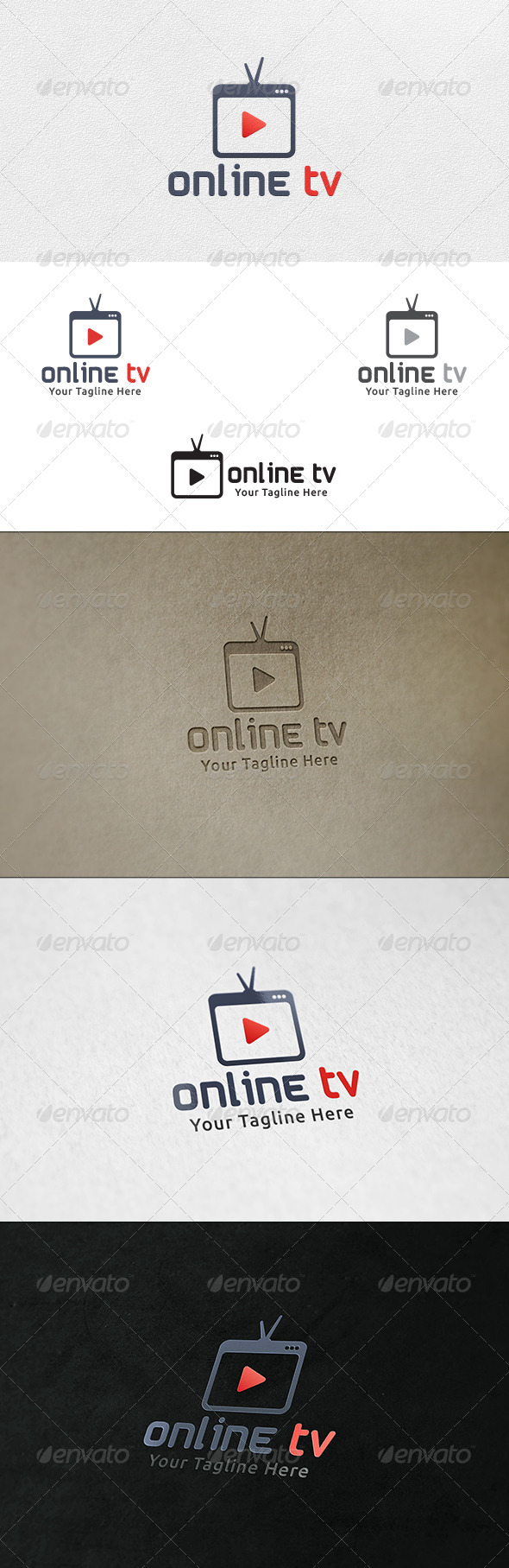 GraphicRiver Online TV Logo Template 6677992