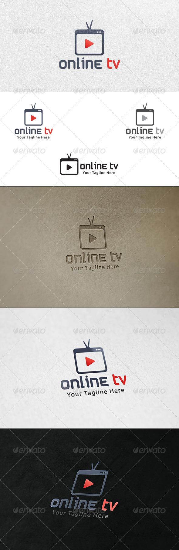 GraphicRiver Online TV Logo Template 6677992