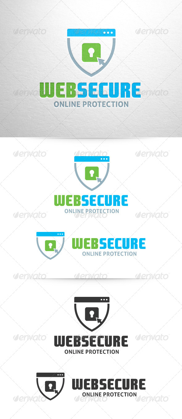 Web Secure Logo Template