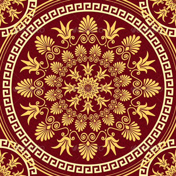 GraphicRiver Seamless Gold Ornament 6678469