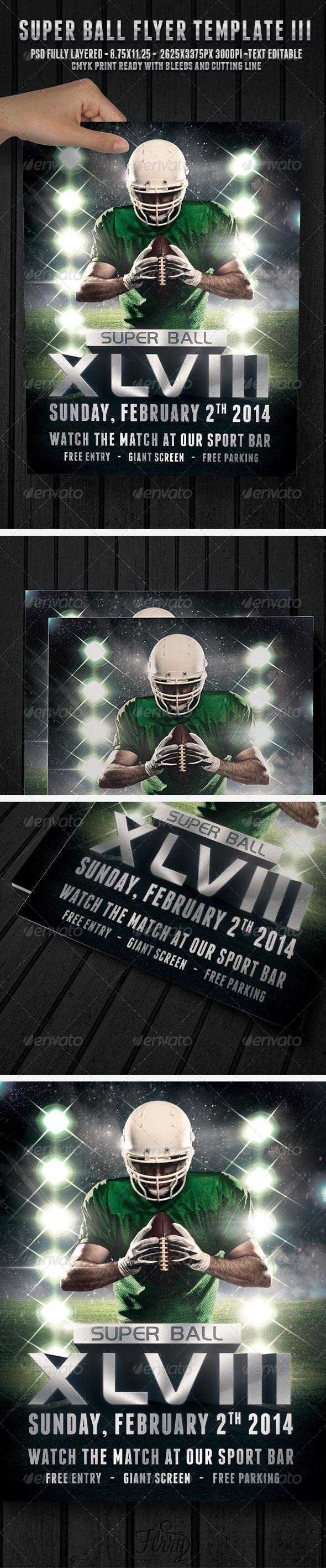 GraphicRiver Super Ball Football 3 Flyer Template 6678657