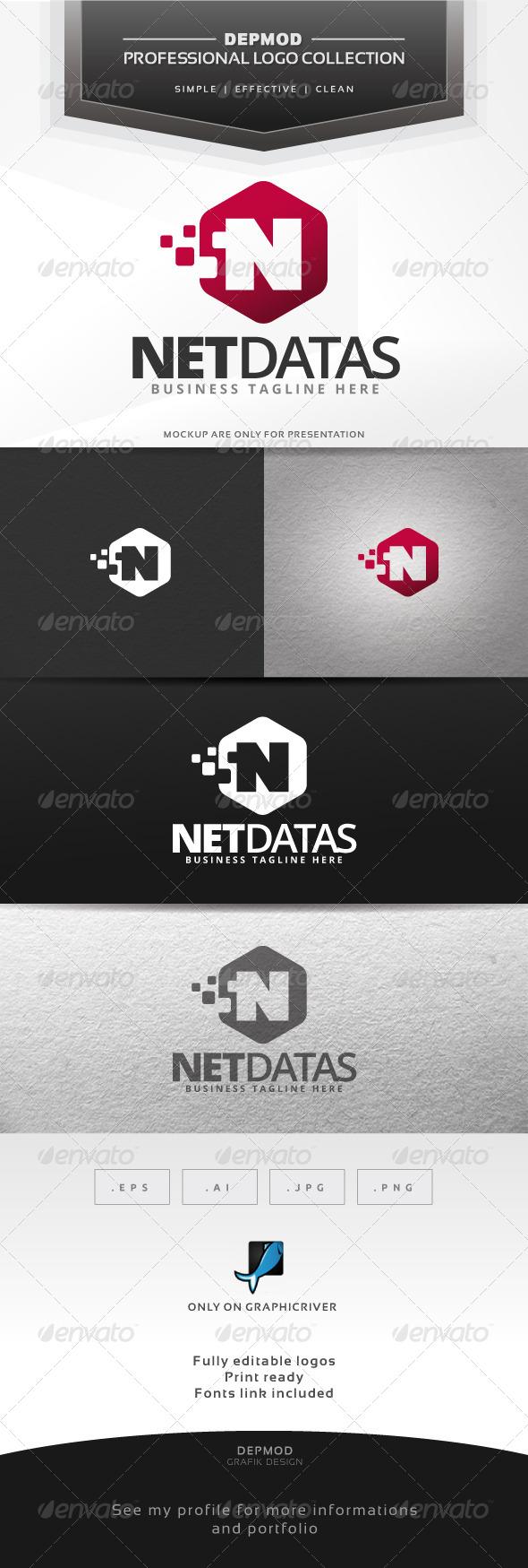GraphicRiver Net Datas Logo 6678681