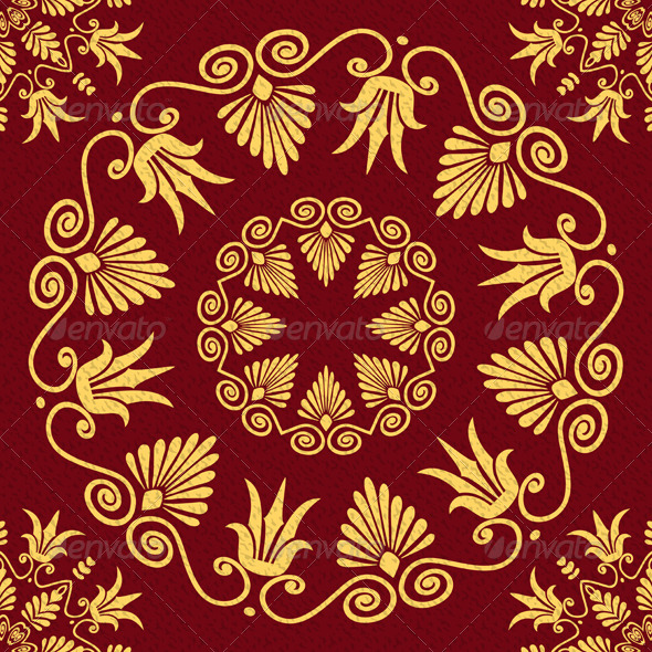 GraphicRiver Seamless Gold Ornament 6678705