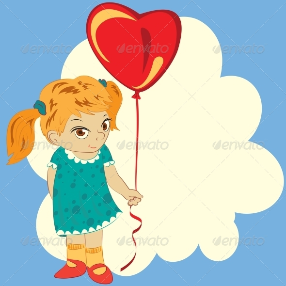 GraphicRiver Girl with Balloon 6678714