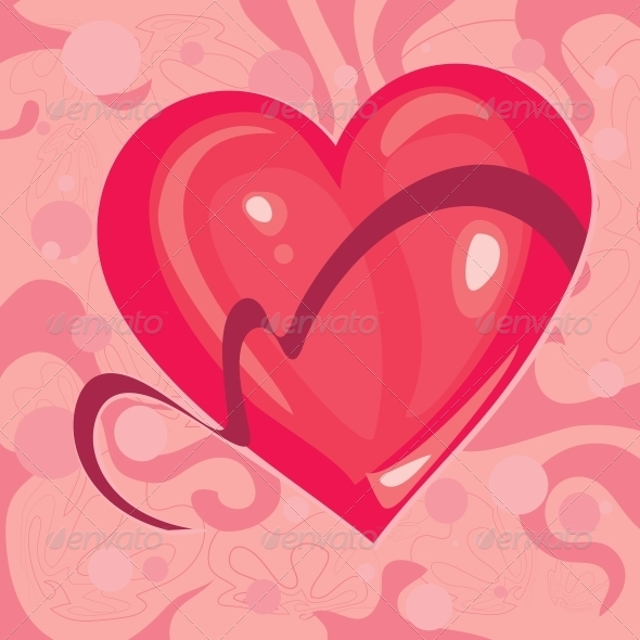 GraphicRiver Heart with a Ribbon 6678715