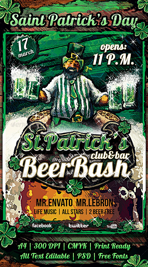 GraphicRiver Flyer Saint Patrick Day 6678772