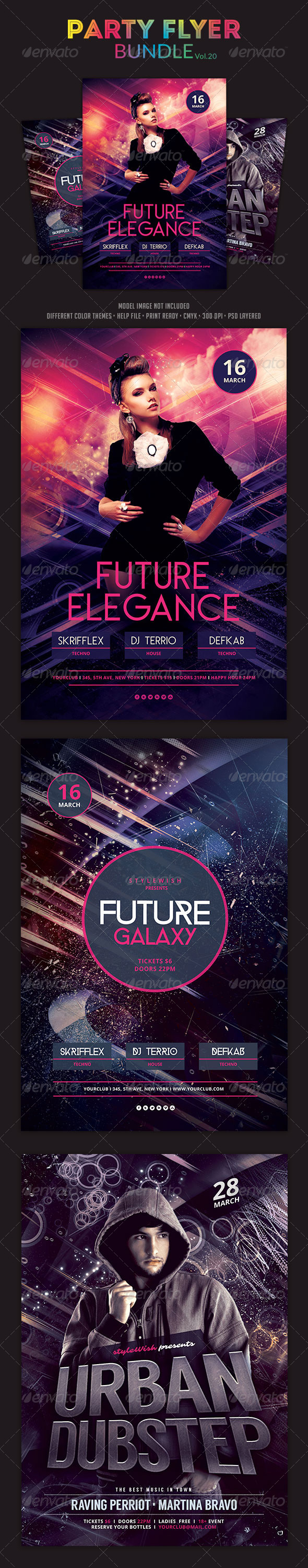 GraphicRiver Party Flyer Bundle Vol.20 6678942