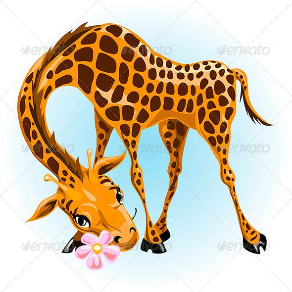 GraphicRiver Giraffe in Love 6679168
