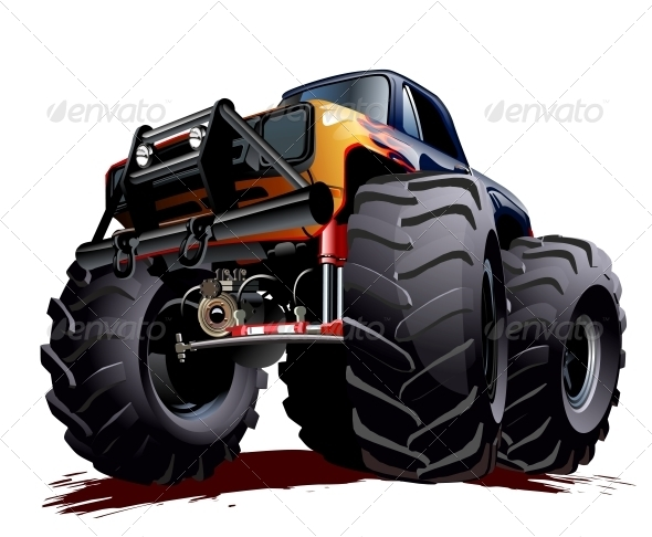 GraphicRiver Cartoon Monster Truck 6679249