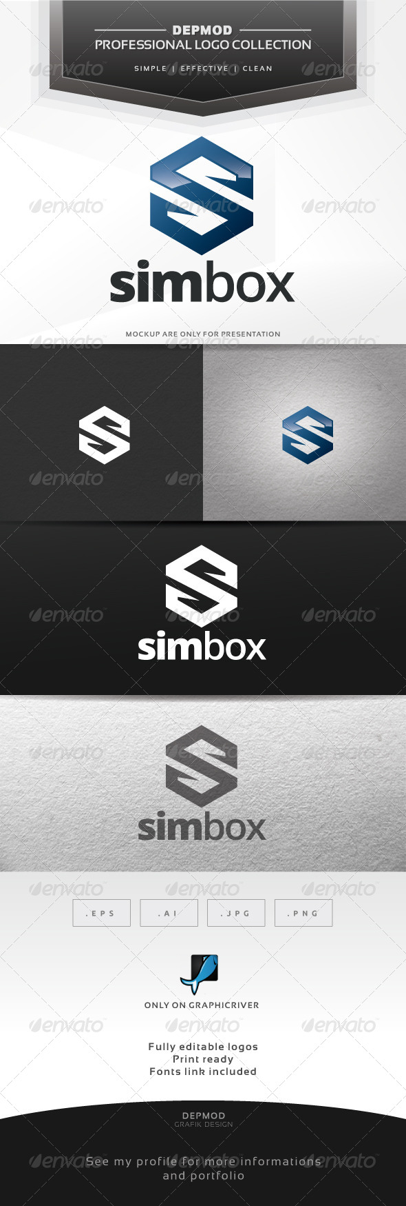 GraphicRiver Sim Box Logo 6679474