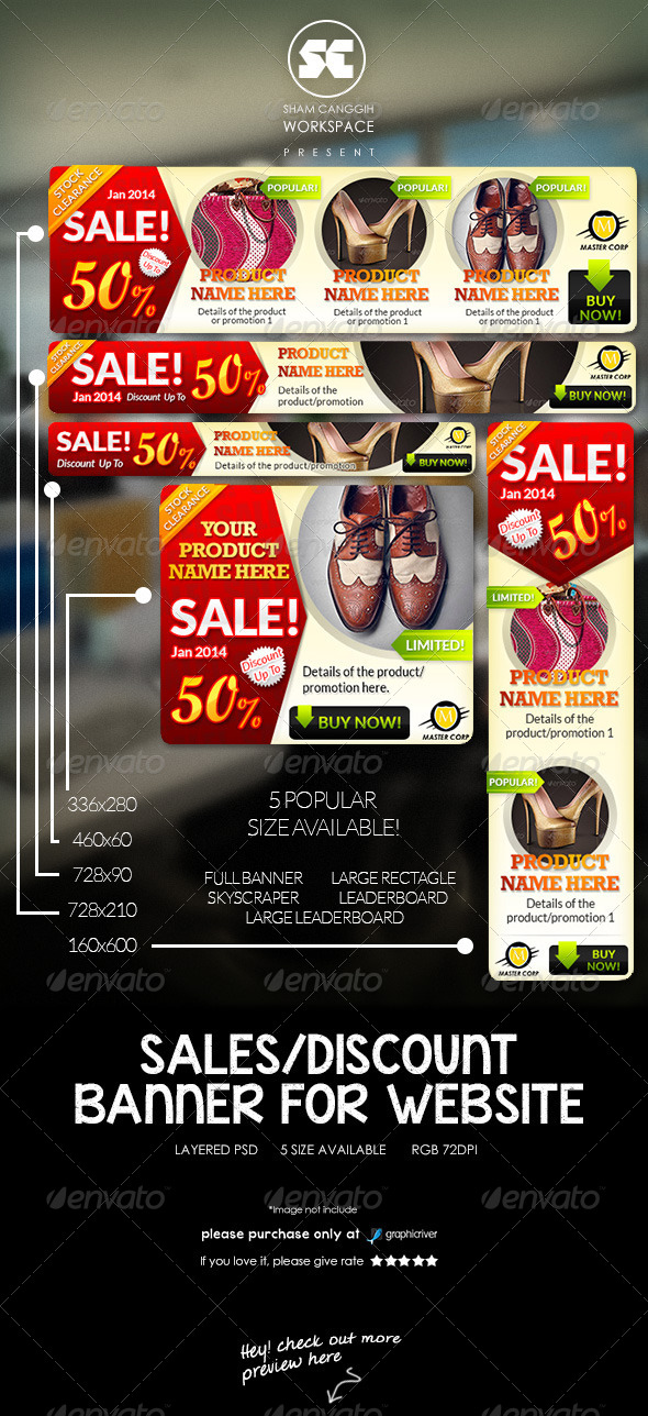Sales/Discount Website Banner/Ads - Banners & Ads Web Elements