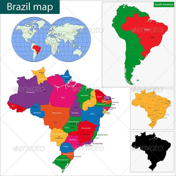 GraphicRiver Brazil Map 6679608